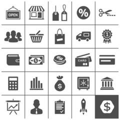 Startup business icons set - Simplus series