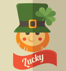 cute leprechaun icon for your St. Patrick's day