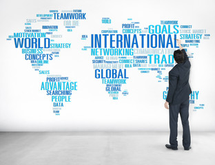International World Global Network Globalization Concept