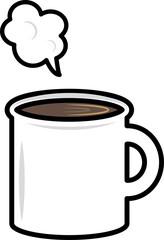 コーヒーの入ったマグカップ