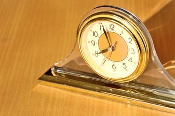 Alarm clock on the morrning sunlight