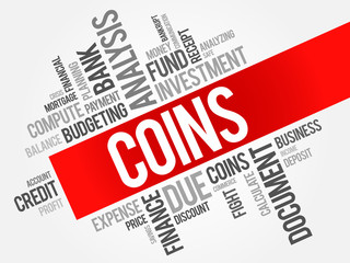 COINS word cloud, business concept