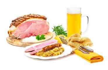 Salzbraten, Sauerkraut, Bier