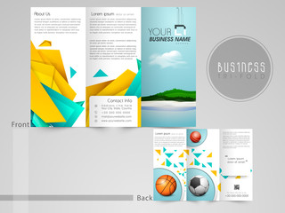 Stylish Tri-Fold flyer or banner with place holders for content