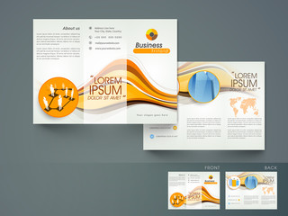 Stylish Tri-Fold brochure or flyer for corporate sector.