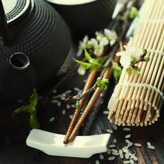 Chinese Tea Set and chopsticks