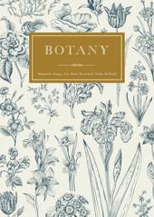 Botany. Vintage floral card.