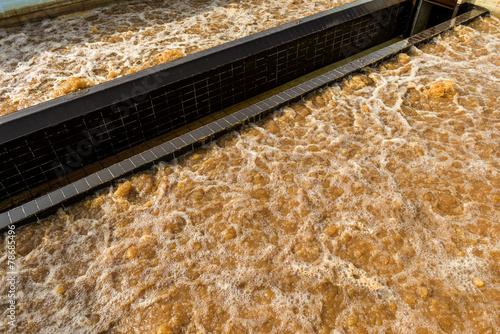 Zdjęcia na płótnie, fototapety, obrazy : Water recycling in big sedimentation drainages
