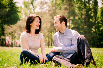 Dating couple - talking togethe