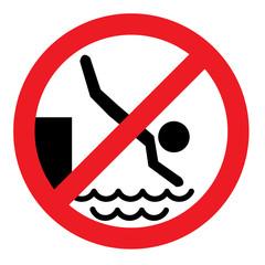 zakaz skoków do wody, skakania do wody