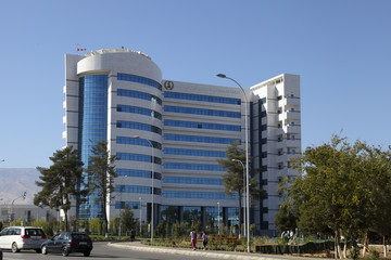 Ashgabat, Turkmenistan - October 23, 2014. The new medical cente