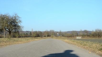 Einsamer Mensch Laufen Feldweg