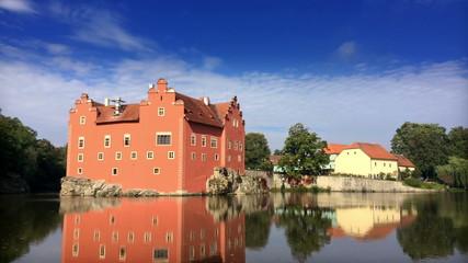 Cervena Lhota. Czech Republic. Castle.Time lapse.