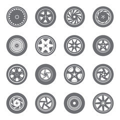 Set of wheel rims