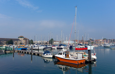 Weymouth marina North Quay Dorset UK in summer