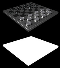 Checkers Game Modern Board