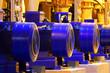 Leinwanddruck Bild - Factory motor equipment.Industrial business and technologies.