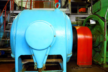 Factory motor equipment.Industrial business and technologies.