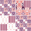 Abstract seamless pattern patchwork design background