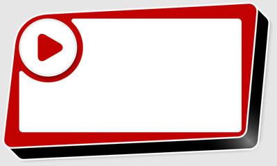 vector abstract red box and play symbol