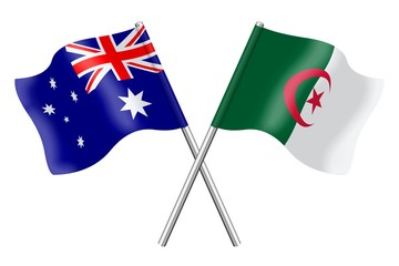 Flags: Australia and Algeria