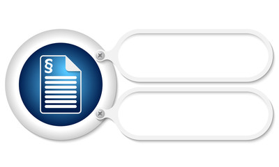 white frames and document icon and paragraph