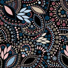 Abstract cute background seamless pattern