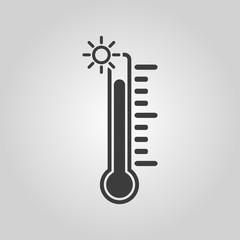 The thermometer icon. High temperature symbol
