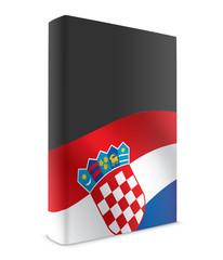 Croatia book cover flag black