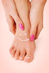 Hand Fuß Gesicht
