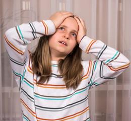 Portrait of upset girl