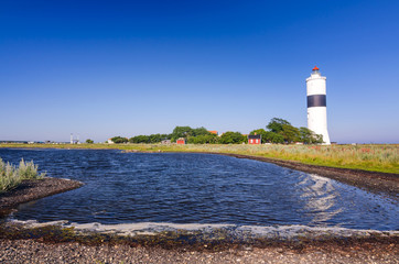 Oland's southern lighthouse - sea bay view