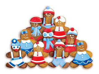 Christmas cookies - funny  decorated cookies