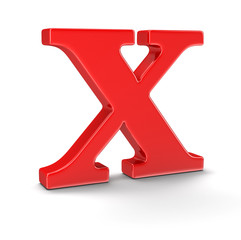 Letter X (clipping path included)