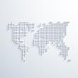 vector modern social network map background