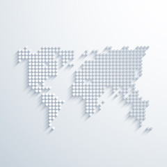 vector modern social network map background