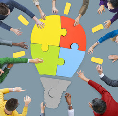 People Working Teamwork Cooperation Support Creativity Concept