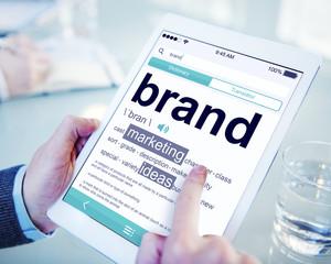 Digital Dictionary Brand Marketing Ideas Concept