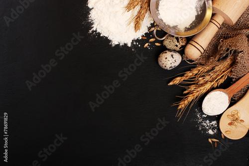 Foto op Aluminium Bakkerij Background baking. Rustic style