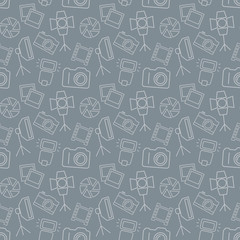 Photographic seamless pattern. Vector background.