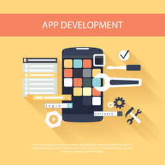 App development instruments concept