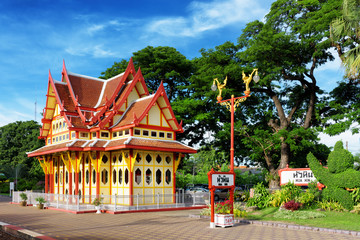 Railway station in the Hua Hin city in Thailand.