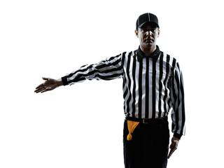 american football referee gestures silhouette