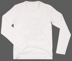 Men's shirt Isolated on gray background.