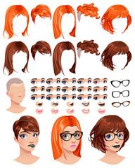 Fashion female avatars