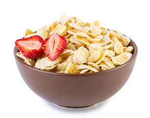 Cornflakes with strawberries
