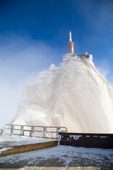 The mountain top station of Aiguille du Midi near Chamonix in