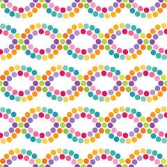 bright colorful seamless dots pattern