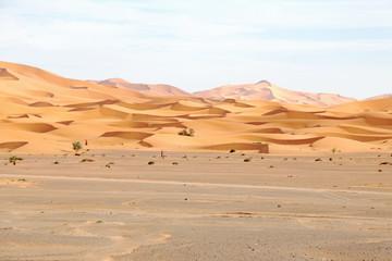 Erg Chebbi desert in Morocco