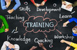 Diverse People Training Skills Workshop Concept - 78694248
